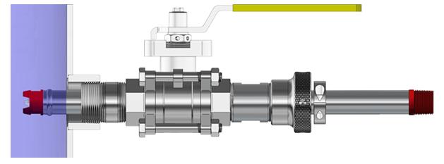 547 pH/ORP 電極—伸縮插入式螺紋插入式,浸沒式,耐高壓和高純度